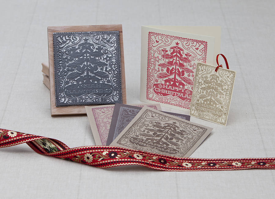 Handmade Christmas Rubber Stamp By Noolibird Rubber Stamps