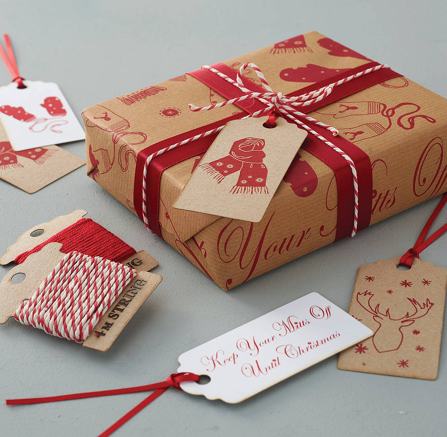 Keep Your Mitts Off Gift Wrap Set By Sophia Victoria Joy