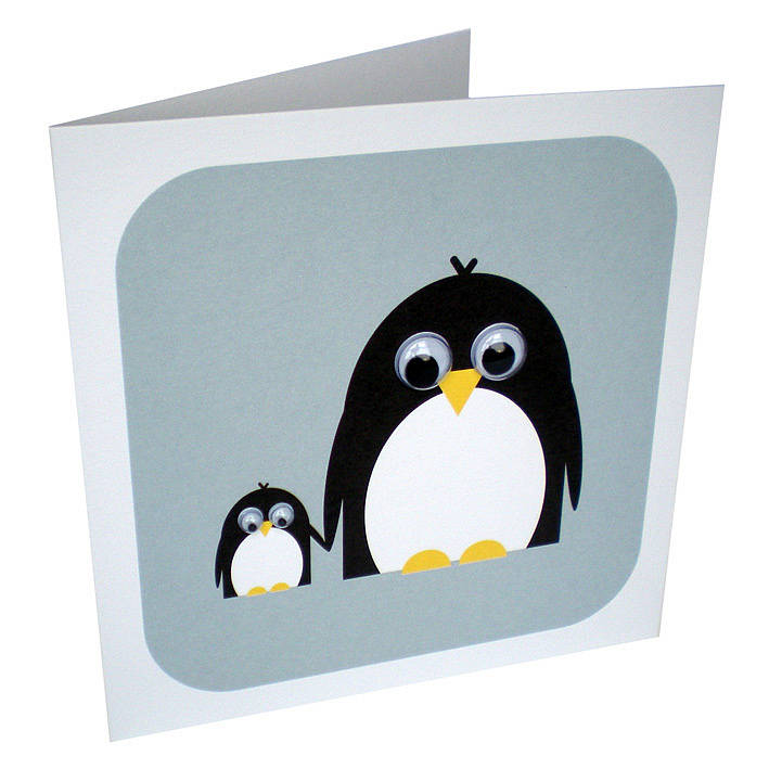Poppy And Petula Penguin Card By Stripeycats