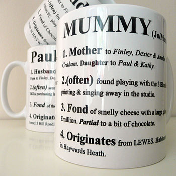 Personalised Definition Mug 100 Cheap Thoughtful Gift Ideas For Her Under £20