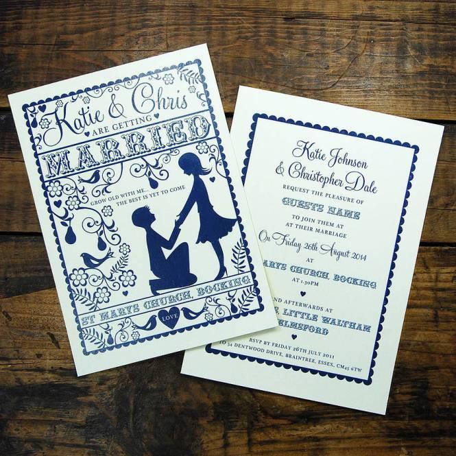Folk Love Wedding Invitation