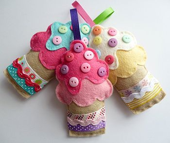 felt cupcake hanging decoration handmade by paper-and ...