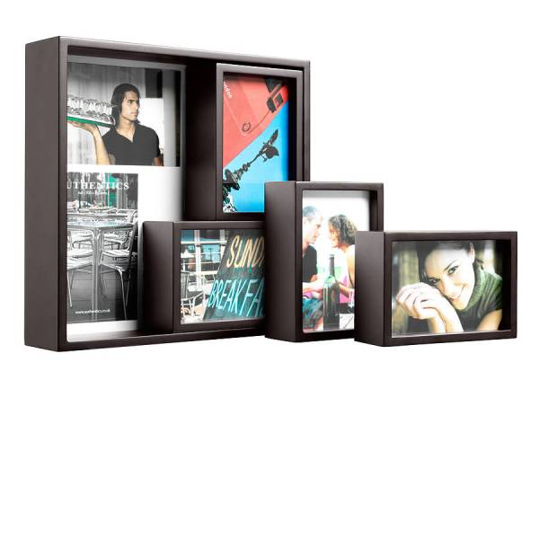 set of five wooden wall or table photo frames by ...