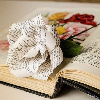 Literary Paper Rose 100 Cheap Thoughtful Gift Ideas For Her Under £20