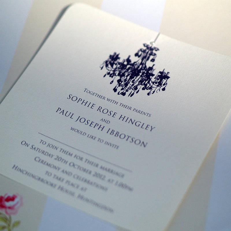 Personalised Chandelier Wedding Invitation