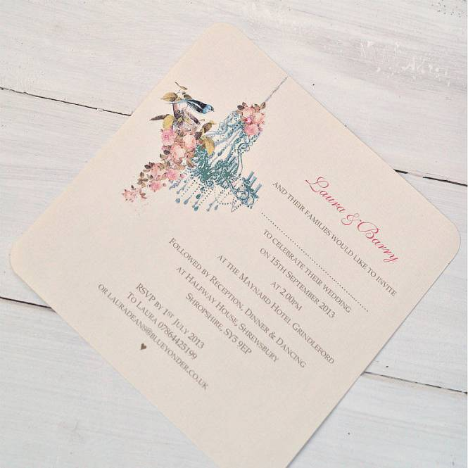 Vintage Chandelier Wedding Invitations