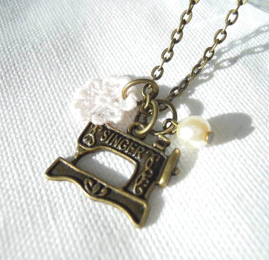 Sewing Machine Charm Necklace By La Belle Et La Bete