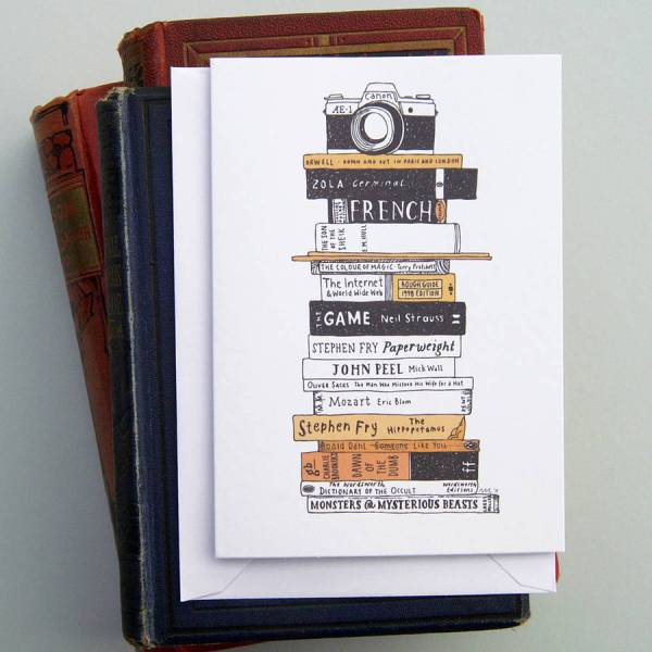 books and camera card by nic farrell illustration ...