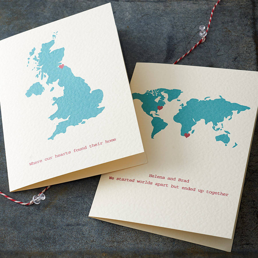 Personalised Destination Map Card By Milly Inspired