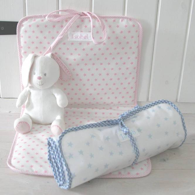 Personalised Oilcloth Changing Mat