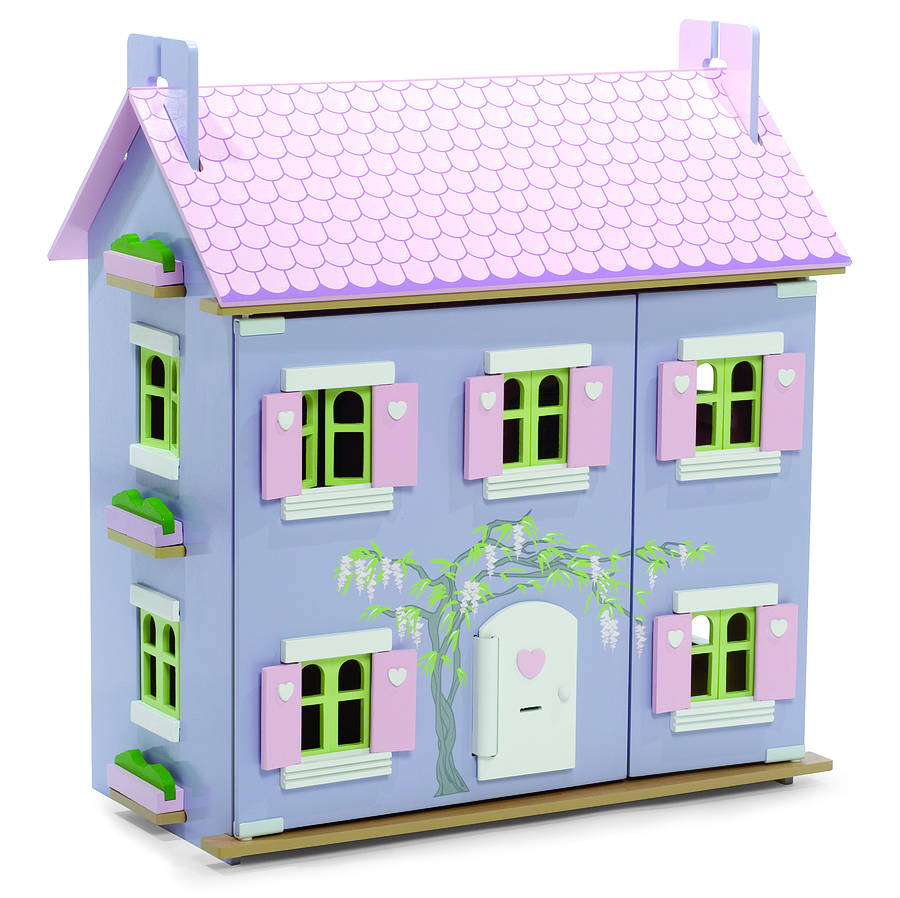 Lavender Dolls House With Furniture By Hibba Toys Of Leeds