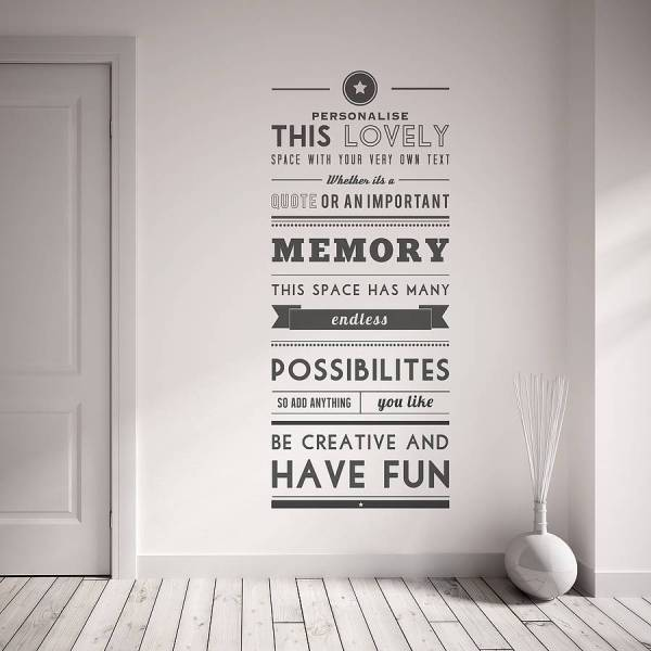 Personalised Quote Wall Sticker By Oakdene Designs ...