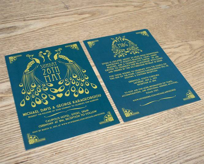 Art Nouveau Wedding Invitations By Starshaped Press Via Oh So Beautiful Paper 9