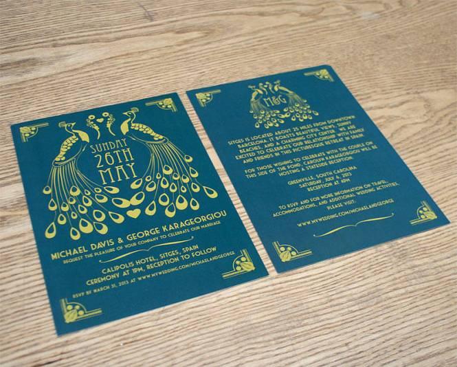Vinyl Record Music Themed Wedding Invitation