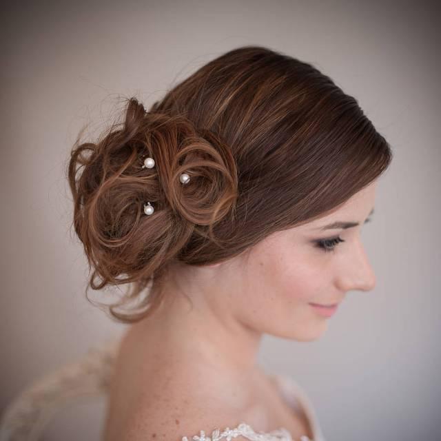 set of pearl bridal hair pins