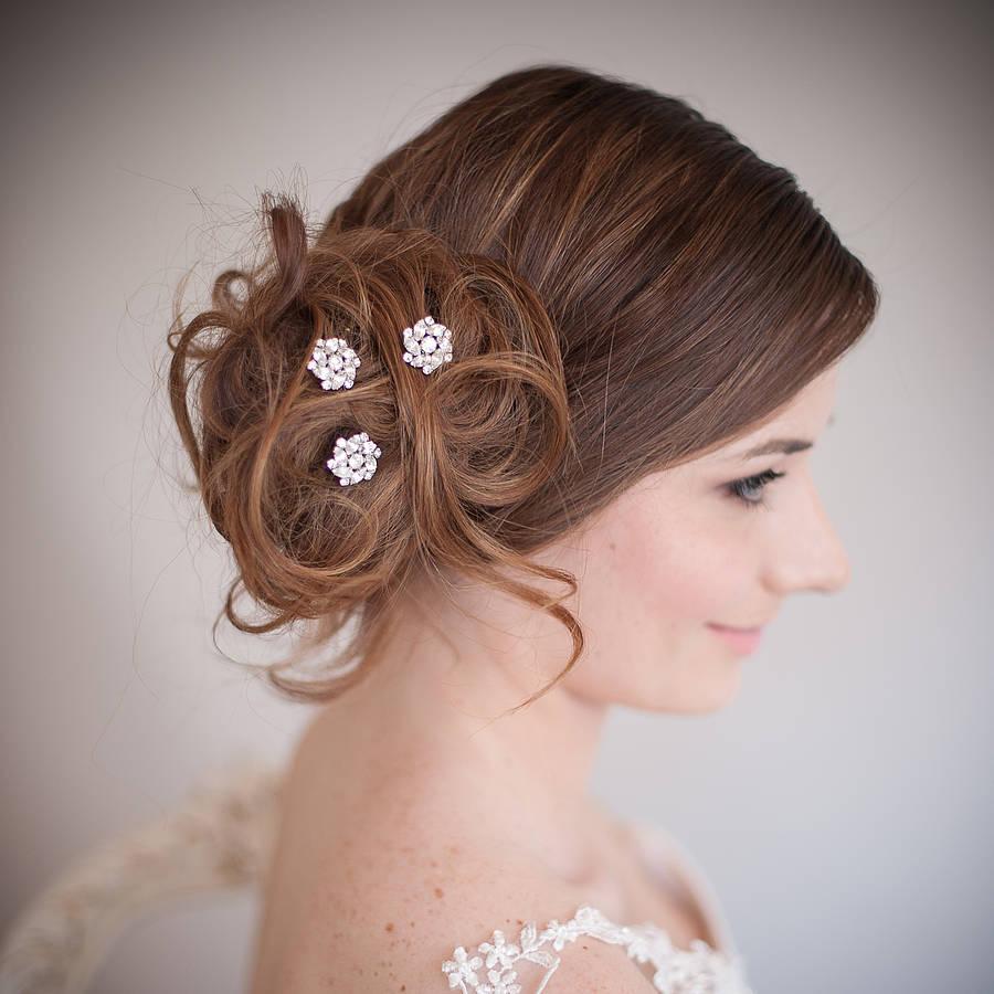 set of divinity wedding hair pins