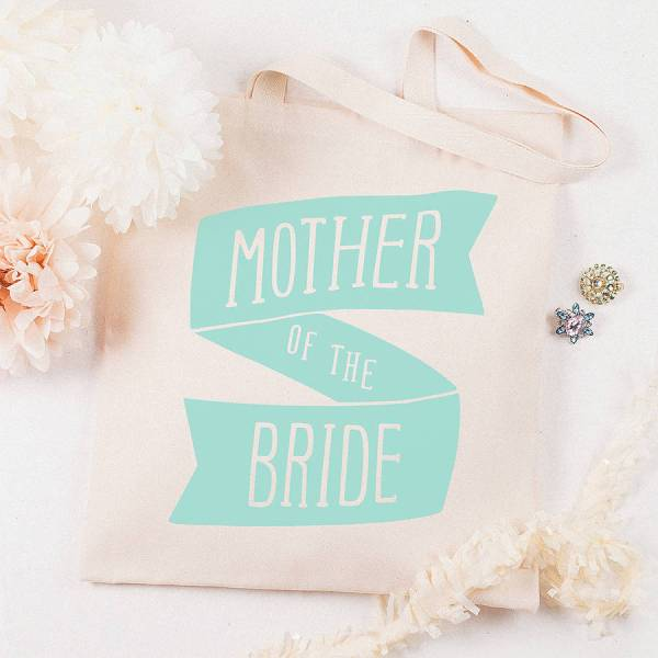 'mother of the bride' tote bag by alphabet bags ...