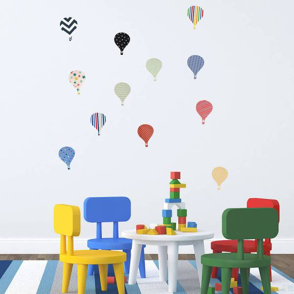 'children's Hot Air Balloon' Wall Stickers By Oakdene ...