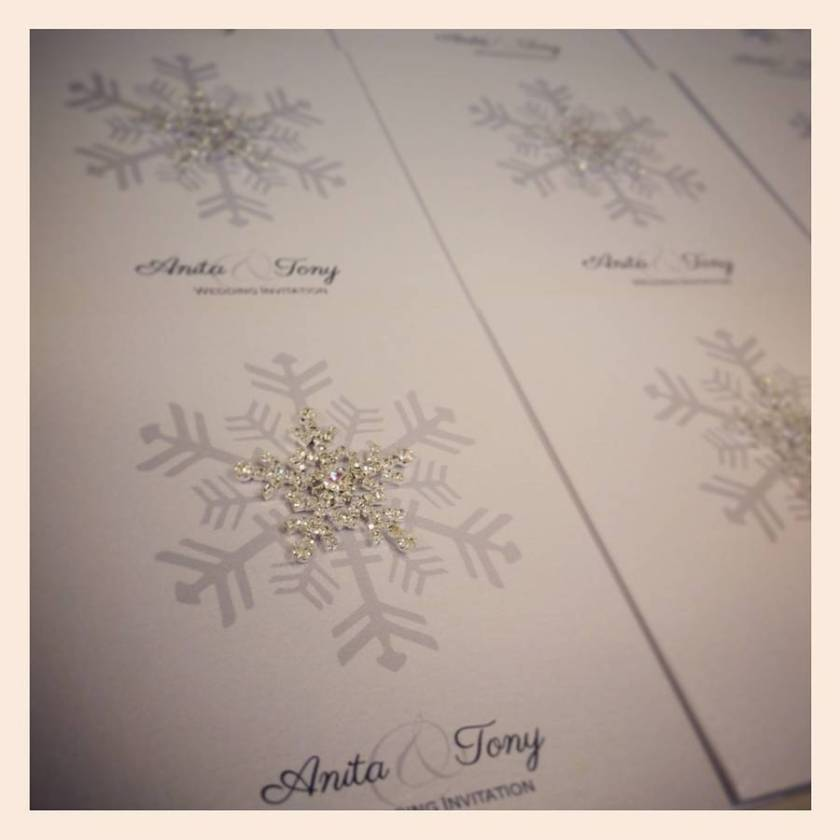 Snowflake Wedding Invitations Gangcraft Crystal Invitation By Made With Love Designs Ltd