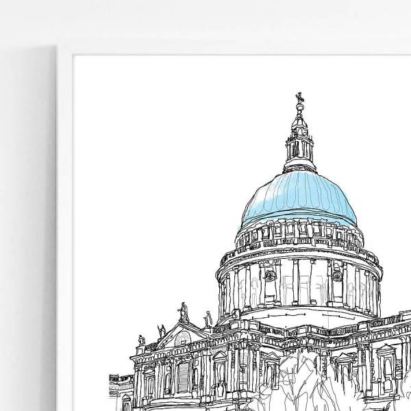 st paul's cathedral signed print by simon harmer ...