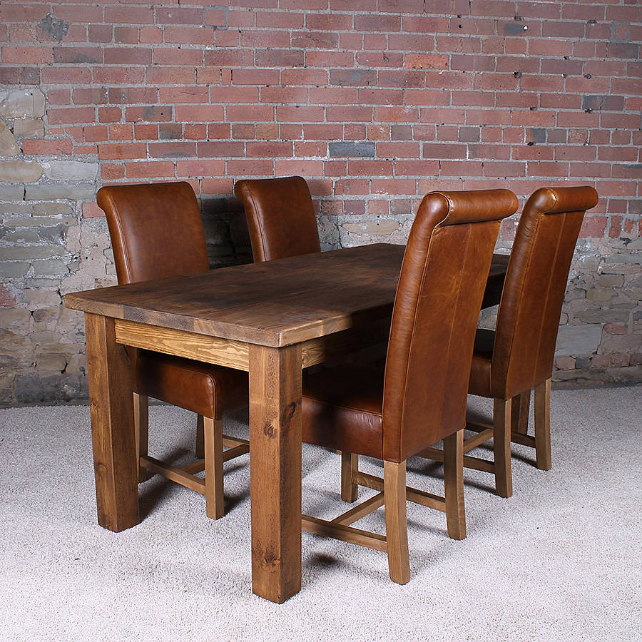 solid wood dining table by h f notonthehighstreet com on solid wood dining table id=14520