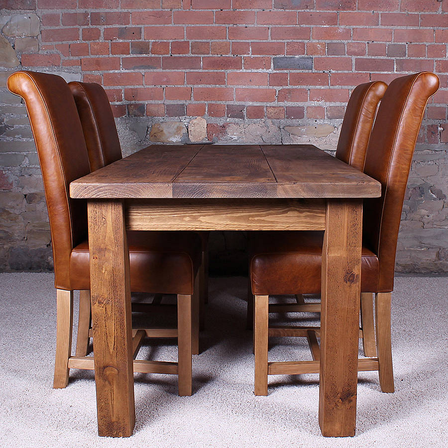 solid wood dining table by h f notonthehighstreet com on solid wood dining table id=38865