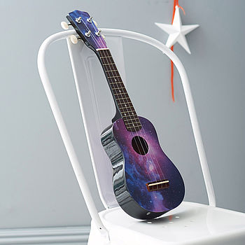 Galaxy Print Ukelele Unique And Quirky Gift Ideas Any Odd Person Will Appreciate (Fun Gifts!)