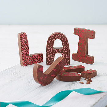 Patterned Milk Chocolate Letter cheap gift ideas for teen girls