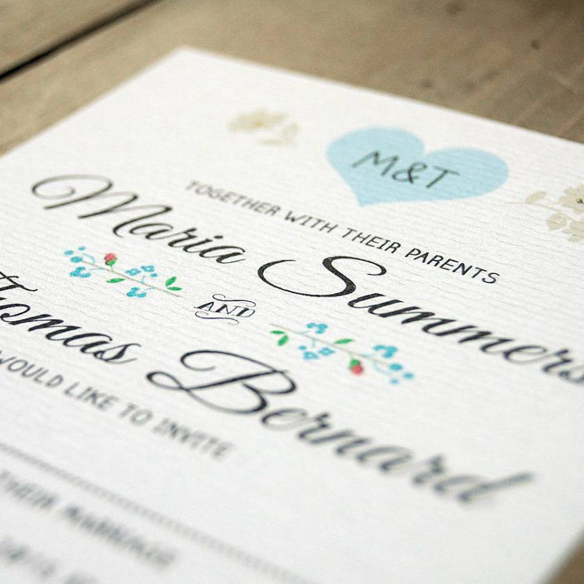 Vine Heart Wedding Invitation