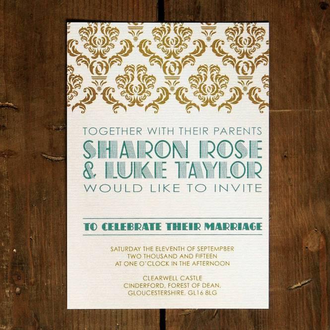 Greaty Gatsby Wedding Invite