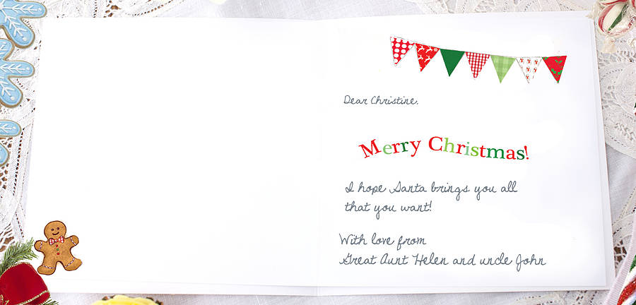 Childrens Christmas Card Chocolate By August Amp Grace