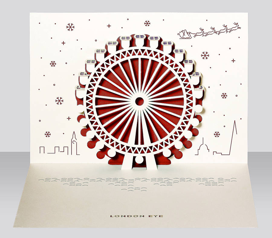 London Eye Pop Up Christmas Card By Paper Tango