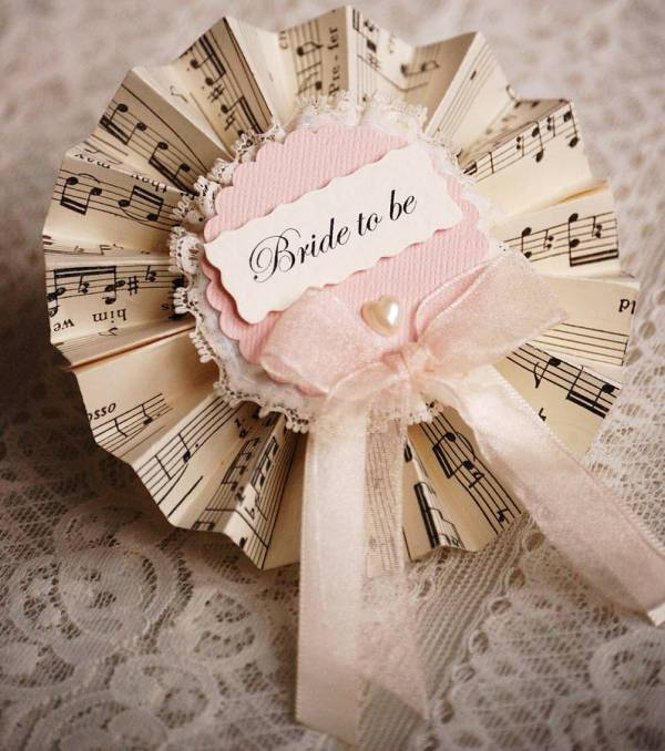 vintage music hen party rosettes by vintage twee ...