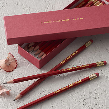 cheap gift ideas for teen girls personalised pencils