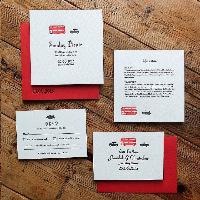 London Wedding Stationery With Laser Cut Details