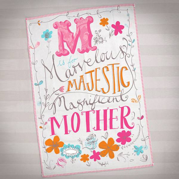mother's day floral tea towel by popbox party ...
