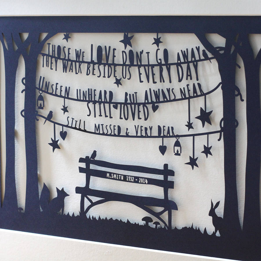 Download personalised 'in loving memory' print or papercut by mimi ...