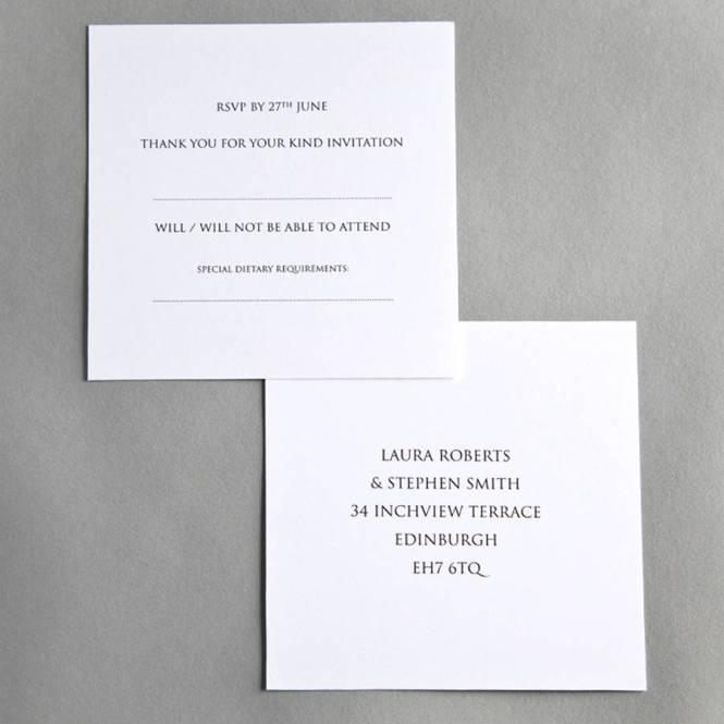 Organza Wedding Invitation