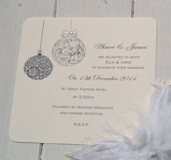 A Simple Grove Of Pine Trees Acts As Subtle Icon On This Christmas Wedding Invitation Below It 39 S Lovely Option For Bride Wanting An Elegant