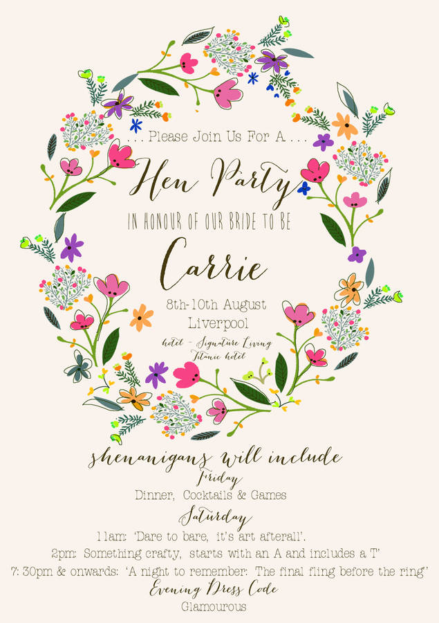 Surprise hens party invitation wording newsinvitation hens party invitation wording were inspiring style to make elegant invitations ideas stopboris Gallery