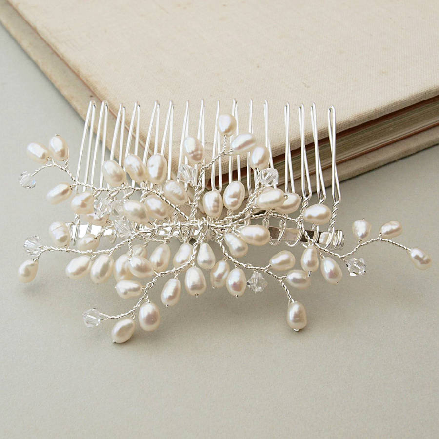 Bud Pearl Bridal Hair Comb By Jewellery Made By Me