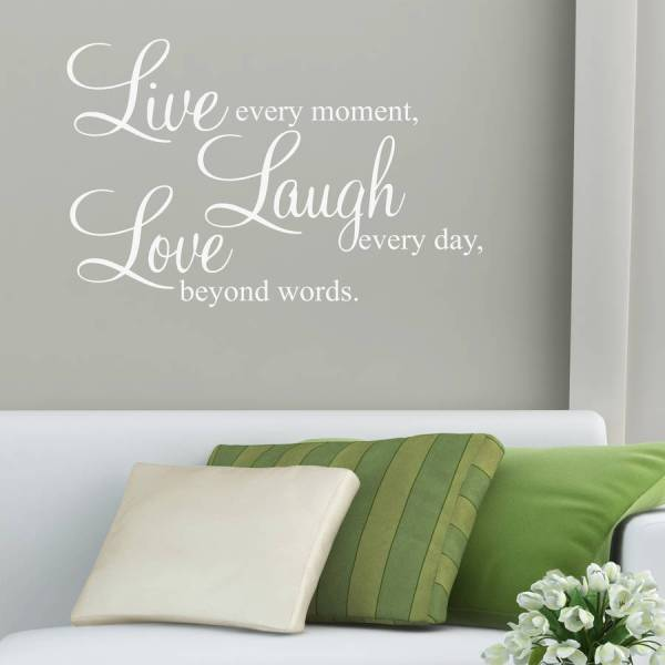 'live laugh love' wall stickers quotes by parkins ...