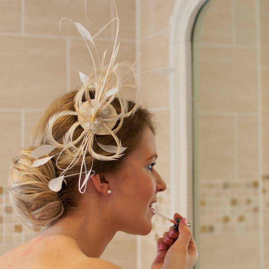 Gold Hair Fascinators For Weddings Midway Media