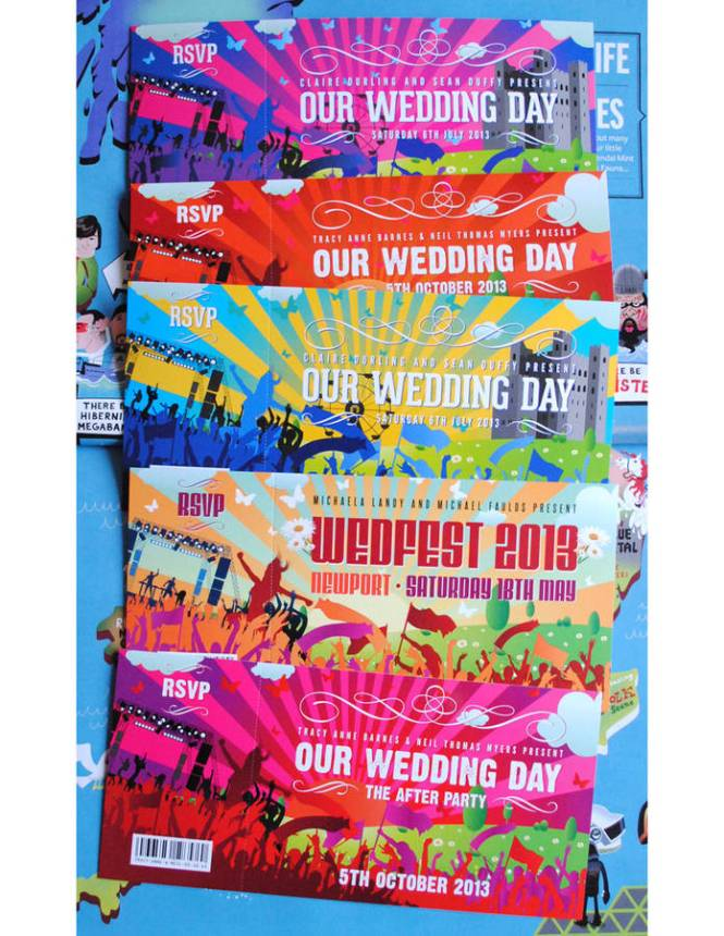 Festival Wedding Invitations