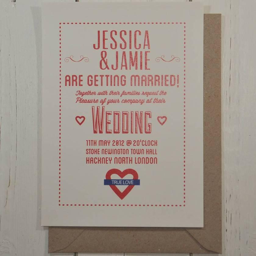Wedding Invitation London Ontario Sle