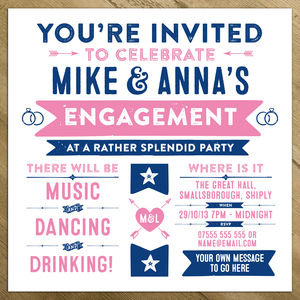Wedding Enement Birthday Party Invitations Winter