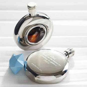 Round Window Hip Flask