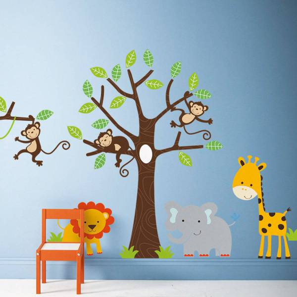 children's jungle wall stickers by parkins interiors ...