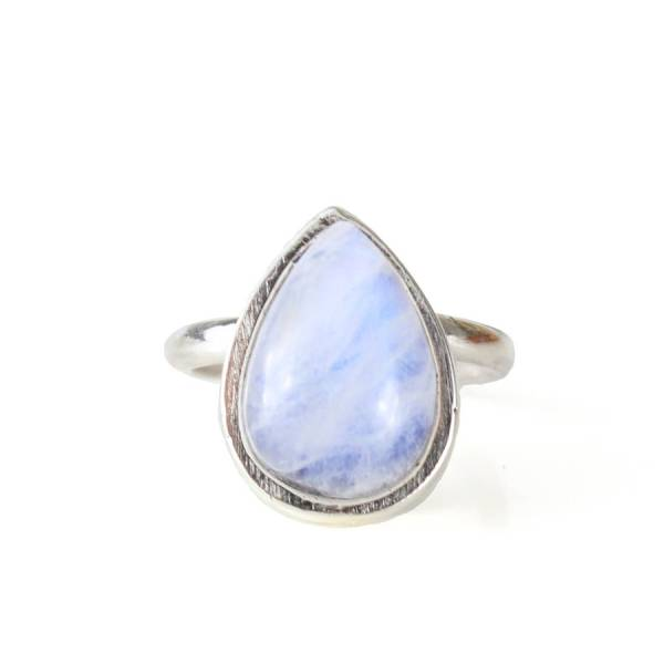 large statement sterling silver teardrop moonstone ring by ...