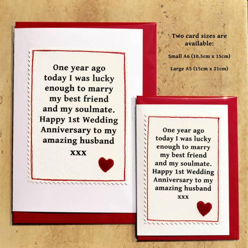 happy one year wedding anniversary husband